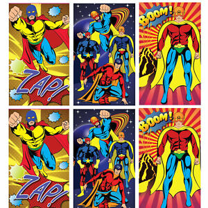 Details about 12 Super Hero Notebooks - Pinata Toy Loot/Party Bag Fillers  Childrens/Kids