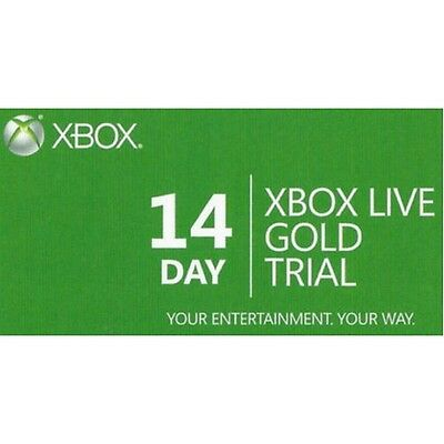 14 Day Xbox Live Gold Subscription Card Trial Membership Code for Xbox One & 360