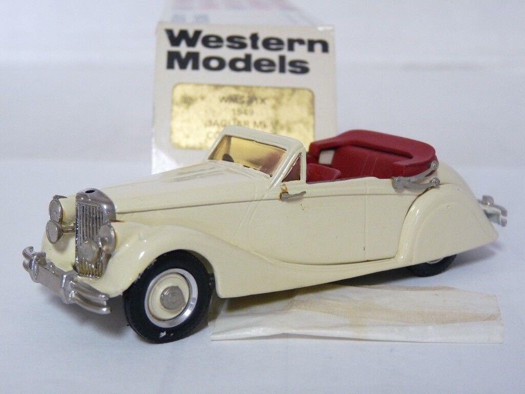 Western WMS41X 1 43 1949 Jaguar Mk V V V Cabriolet Handmade White Metal Model Car 14430e