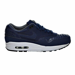 Nike-Air-Max-1-Woven-Men-039-s-Sneaker-Shoes-Midnight-Navy-Black-725232-400