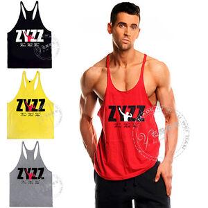 ecf880049fbb82 Men s Pro Gym ZYZZ Tank top Stringer Bodybuilding Training Workout ...
