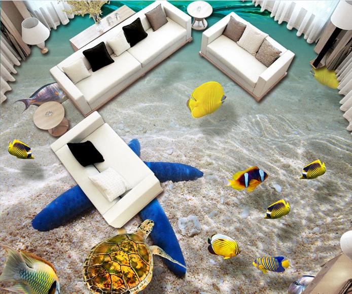 3D Starfish Strand 87 Fototapeten Wandbild Fototapete Tapete Familie DE Lemon