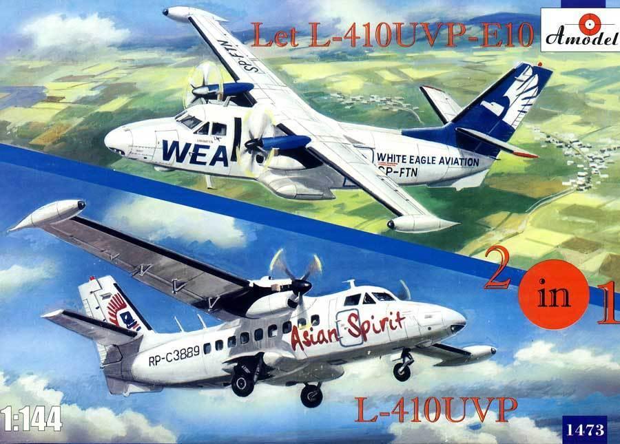 Amodel Let L-410UVP-E10 & L-410UVP Turbolet Model Kit 2 Models   Kits 1 144