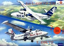 Amodel Let L-410UVP-E10 & L-410UVP Turbolet Modell-Bausatz 2 Modelle/Kits 1:144