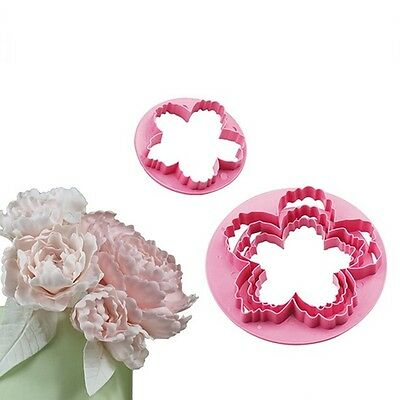Plus Peony Fondant Embosser Cake Cutter Mold Cookie Biscuit Decorating Sets