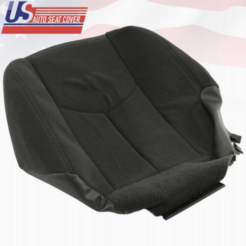 2003 2004 GMC Sierra 1500 1500HD Driver Side Bottom Cloth Seat Cover DARK GRAY