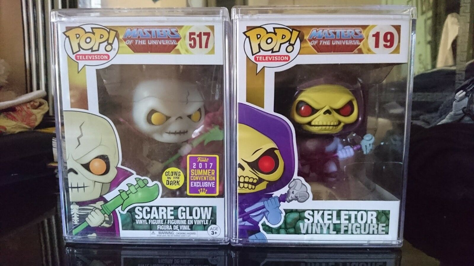 Funko Pop  Masters of the Universe 2 Skeletor & Scare glowing with plastic