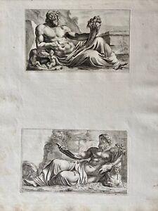 François Perrier Roma Antike Mythologie God Tiberinus Neilos Nile Romolus 1638
