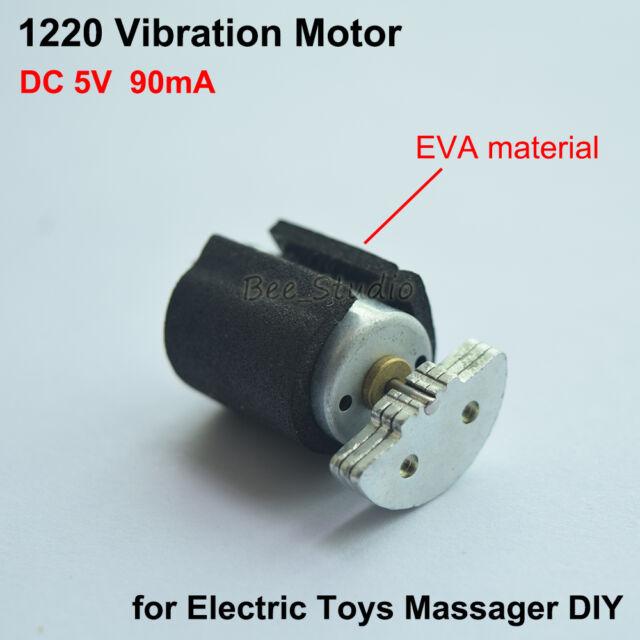 DC 5v 12*20mm Micro Mini Vibration Vibrator Motor for Massager W/ Buffer  Cushion | eBay