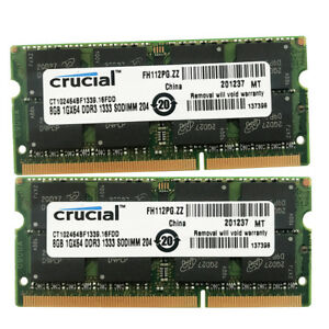 """8G 16G DDR3-1333 PC3-10600 SODIMM For MacBook Pro 13/"""" Early 2011 A1278 MC724LL//A"""