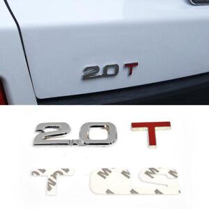 3D-2-0T-Abziehbild-Aufkleber-Briefe-Kofferraum-Rueckseite-Emblem-fuer-VW-BMW-Ford