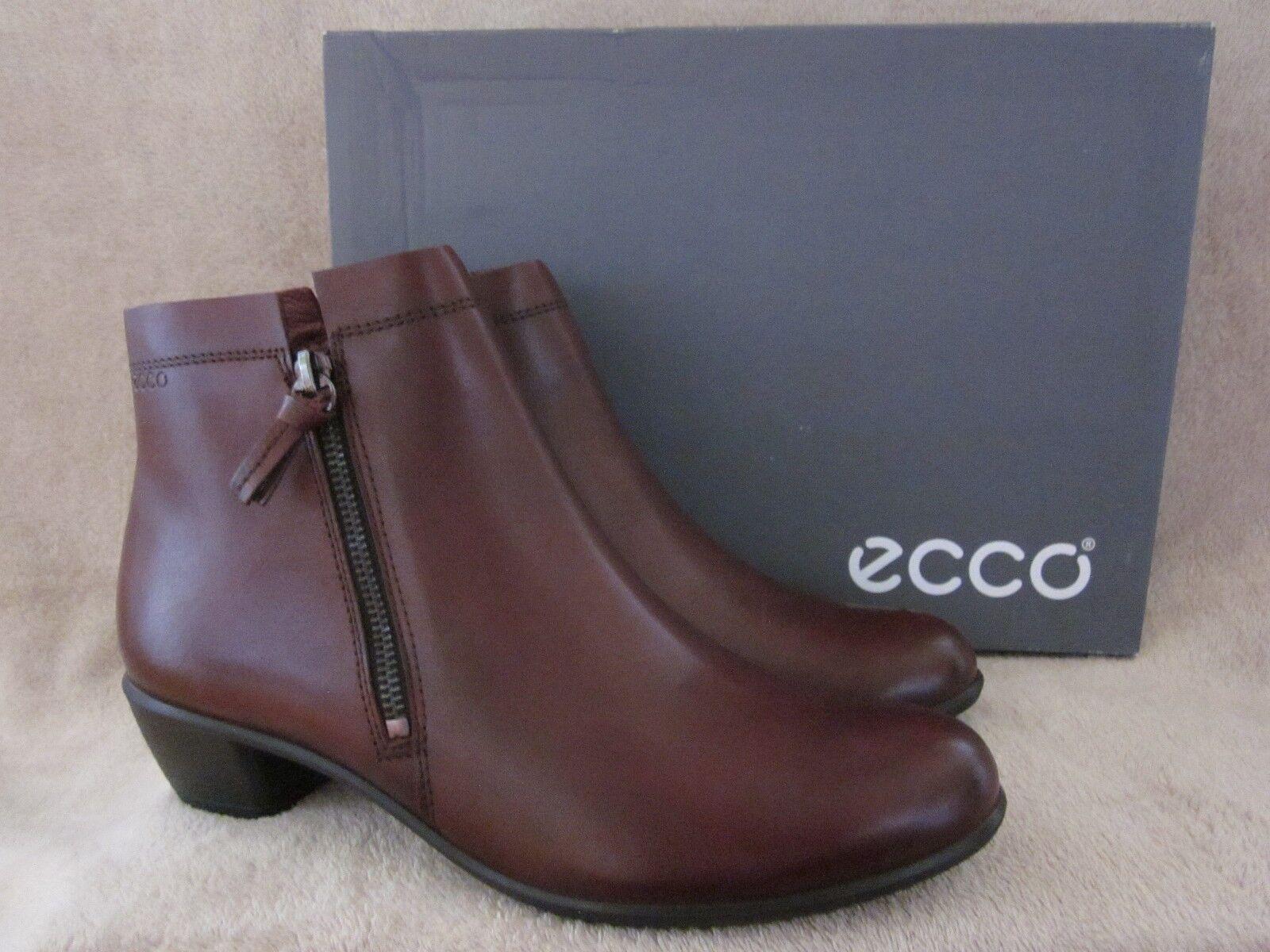 Ecco Touch 35 Castaña Castaña Castaña De Cuero Corte Bajo Tobillo botas Zapatos EE. UU. 9 - 9.5 M EU 40 Nuevas Con Caja  100% precio garantizado