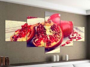 Leinwandbild 5tlg 200x100 Granatapfel Frucht Obst Küche Bilder ...