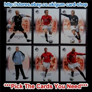 UPPER-DECK-MANCHESTER-UNITED-SP-AUTHENTIC-2004-PICK-THE-CARDS-YOU-NEED