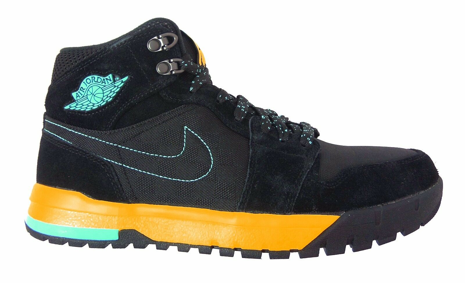 Nike Men's AIR JORDAN 1 TREK Shoes Black/Blue/Maize 616344-089 a3