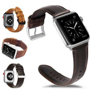 Genuine-Leather-Watch-Band-Strap-Metal-Buckle-for-Apple-Watch-Series-5-4-3-2-1