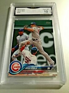 JAVIER-BAEZ-2018-Topps-265-GMA-Graded-10-Gem-Mint