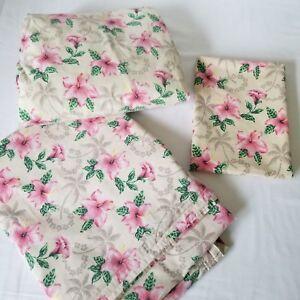 Surf Bedding Tropical Sheet Set Dean Miller Twin 3 Piece Beach Pink