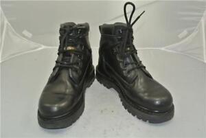 Machines 7Walking Size Caterpillar Bootsuk Leather Black thxCQsrd