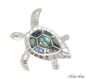925-Sterling-Silver-Hawaiian-Honu-Sea-Turtle-Abalone-Paua-Shell-Slider-Pendant