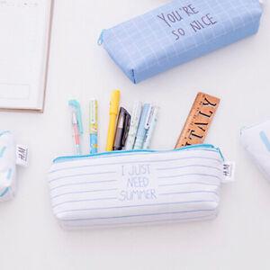 Canvas-Pen-Bag-Colorful-Zip-Pouch-Makeup-Bag-Pencil-Case-LD