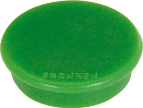 FRANKEN Haftmagnet Haftkraft 800 g Durchmesser 32 mm grün 10 Magnete