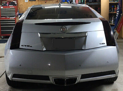2011 2014 Cts Coupe Vinyl Smoked Overlay Kit Tints Tail