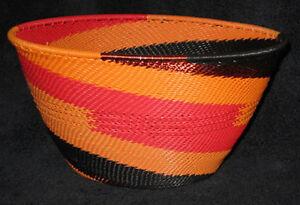 Swirling-Flames-African-Zulu-Telephone-Wire-Basket-DEEP-LG-BOWL