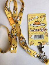 SANRIO Gudetama ? Neck Strap Key Holder Key Chain Lanyard Kawaii? DAISO F/S