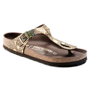 CLEARANCE-Birkenstock-Leather-Gizeh-WAS-AU-179-Spotted-Metallic-Brown-1006883