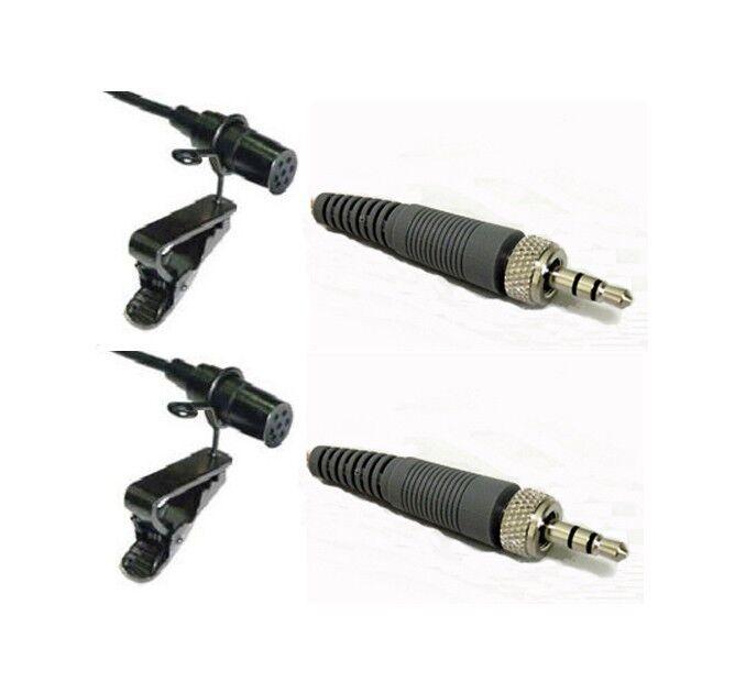 2pcs Lapel Microphone Lavalier Mic for Sennheiser Wireless Transmitter Evolution