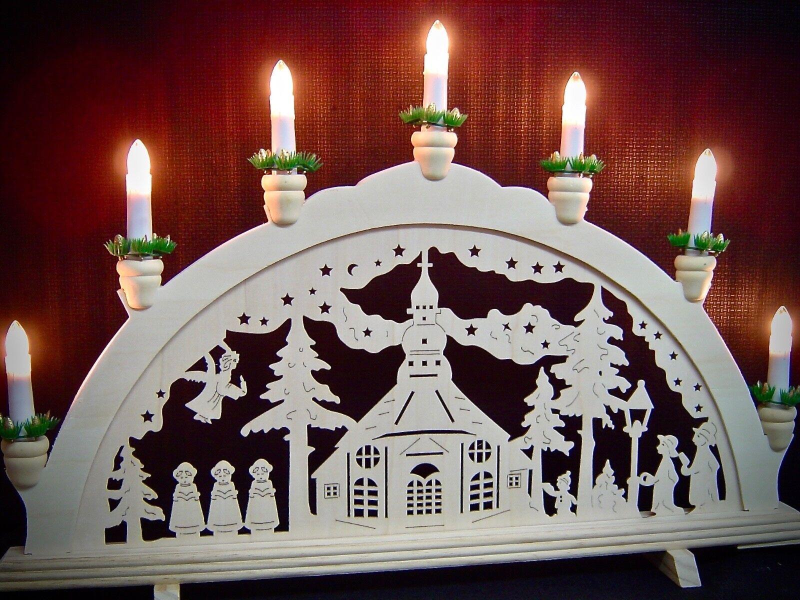 Lichterbogen Lichterbogen Lichterbogen Schwibbogen 7 Kerzen Seiffener Kirche Seiffen 58 x 38 cm 10330 | Niedriger Preis und gute Qualität  499056