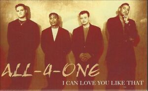 1995 R&B POP CASSETTE SINGLE: ALL-4-ONE - I CAN LOVE YOU LIKE THAT (ATLANTIC)