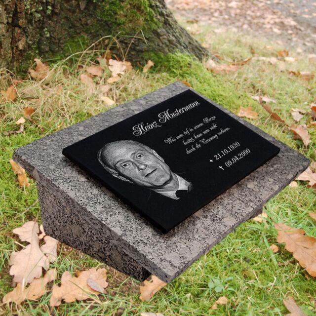 gg31s Granit Grabplatte Grabtafel Grabschmuck 25x20 cm Wunsch Gravur Grabstein