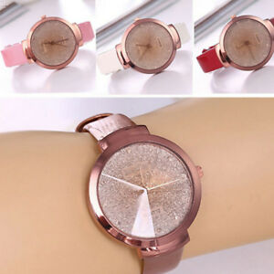 Fashion-Casual-Stainless-Steel-Leather-Watch-Women-039-s-Analog-Quartz-Wrist-Watches