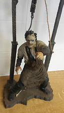 "12"" TALL LEATHERFACE FIGURE WITH STAND MCFARLANE USED"