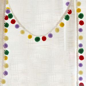 7-Colours-Ball-Rainbow-Pom-Pom-Bobble-Trim-Braid-Fringe-Ribbon-Edging-Craft-F0G2