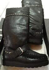 Nine West Black Suede Studded Boots. Size 5 New With Box.