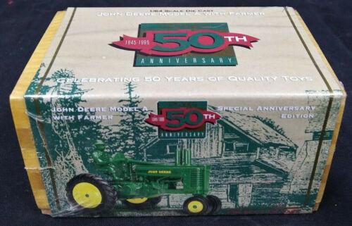 1995 Vtg SEALED John Deere ERTL 50th Anniversary Model A Tractor 1//64 DIE CAST