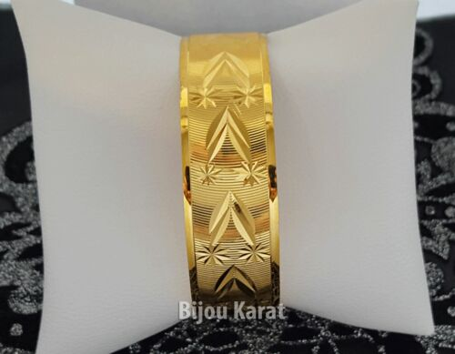 Trabzon Pulsera Brazaletes de oro 24 quilates GP 24 Ayar altin kaplama Dügün 20 mm