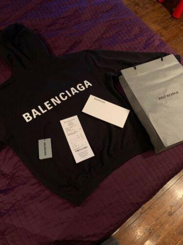 Balenciaga Men's Oversize Back Logo Printed Black