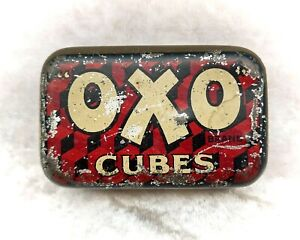 Vintage British Advertising Food Tin-OXO Cubes.