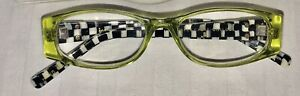 NEW-GREEN-Rare-MACKENZIE-CHILDS-READERS-1-0-READING-GLASSES-COURTLY-CHECK