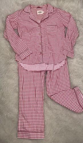 UGG Raven Houndstooth Pajama 2-Piece Set Small Red