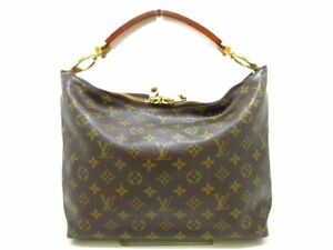 LOUIS-VUITTON-LV-Monogram-Sully-PM-M40586-Shoulder-Hand-Tote-Bag-Used