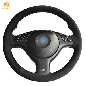 Black Suede Steering Wheel Cover for BMW E46 M3 E39 330i 540i 525i 530i 330Ci
