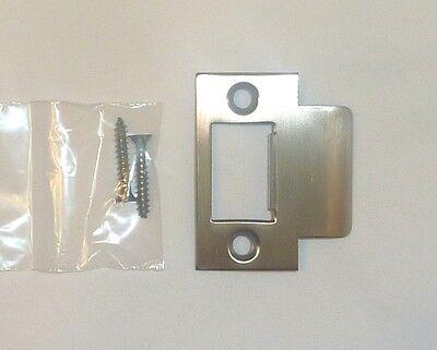 """Decorlux Solid Brass Door 2-1//4/"""" T-Strike Plate w// 2 Screws SATIN CHROME 1"""