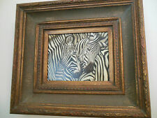 """Zebra Museum Quality """"Masters Style"""" Reproduction Oil Painting 8X10"""