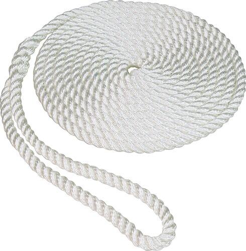 Weiß Boot Dock Linie Seil Premium Twisted mit Schleife Bulk 1/2  X 30'