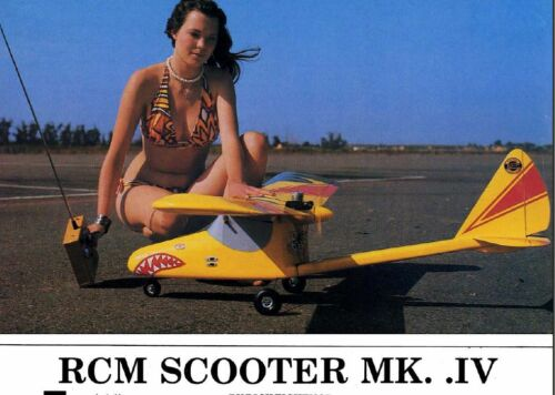 """Scooter MK IV"" 65.5 inch wing RC Model AIrplane Printed Plans"